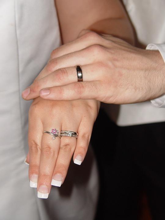 Woman, Hand, Wedding
