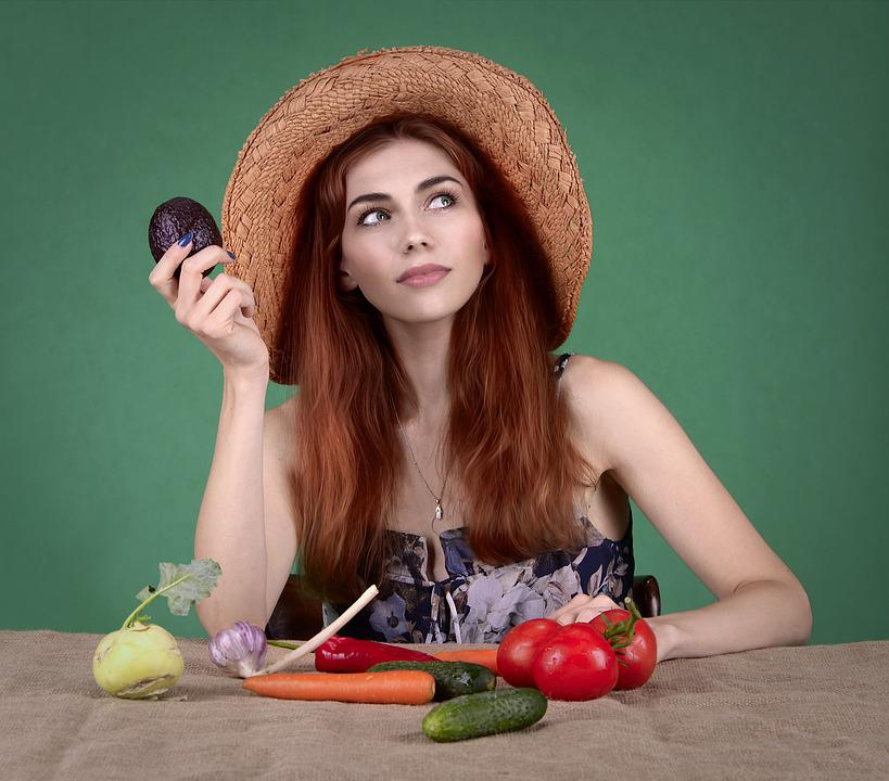 Diet, Healthy Nutrition, Vegetables, Girl, Woman