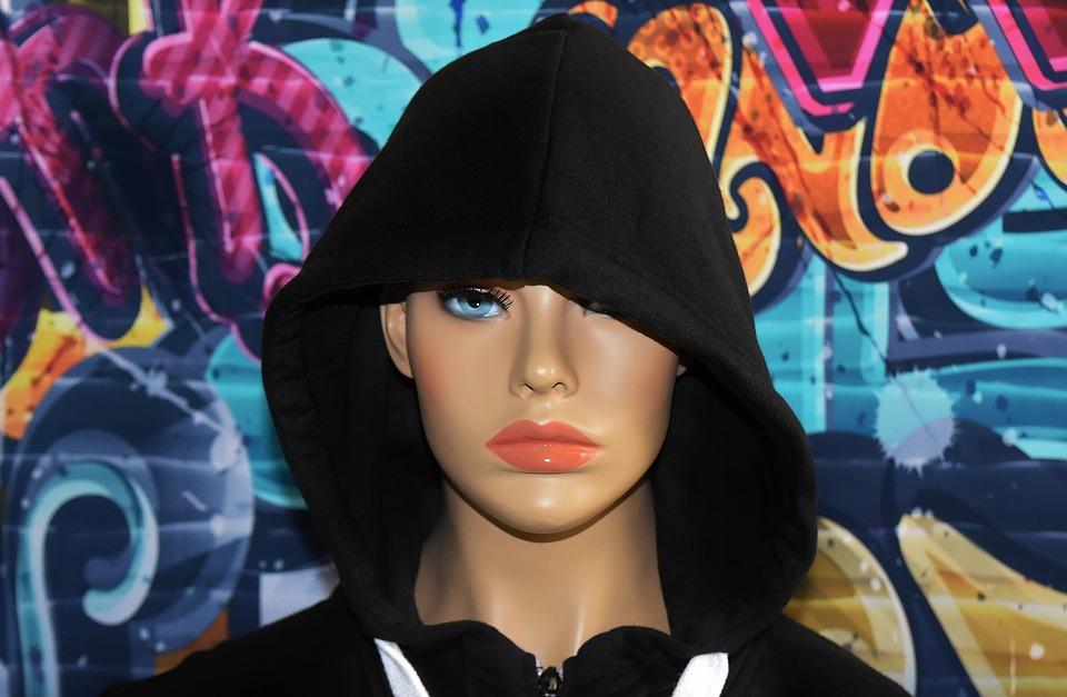Model, Graffiti, Street Art, Woman, Pretty, Hood