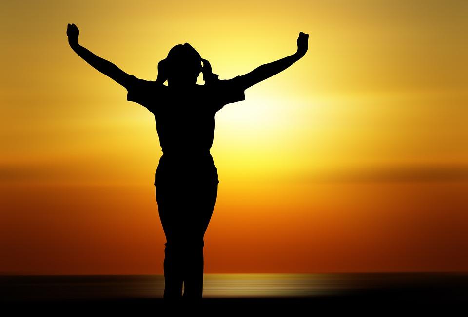Person, Woman, Girl, Human, Joy, Sunset, Sun, Orange