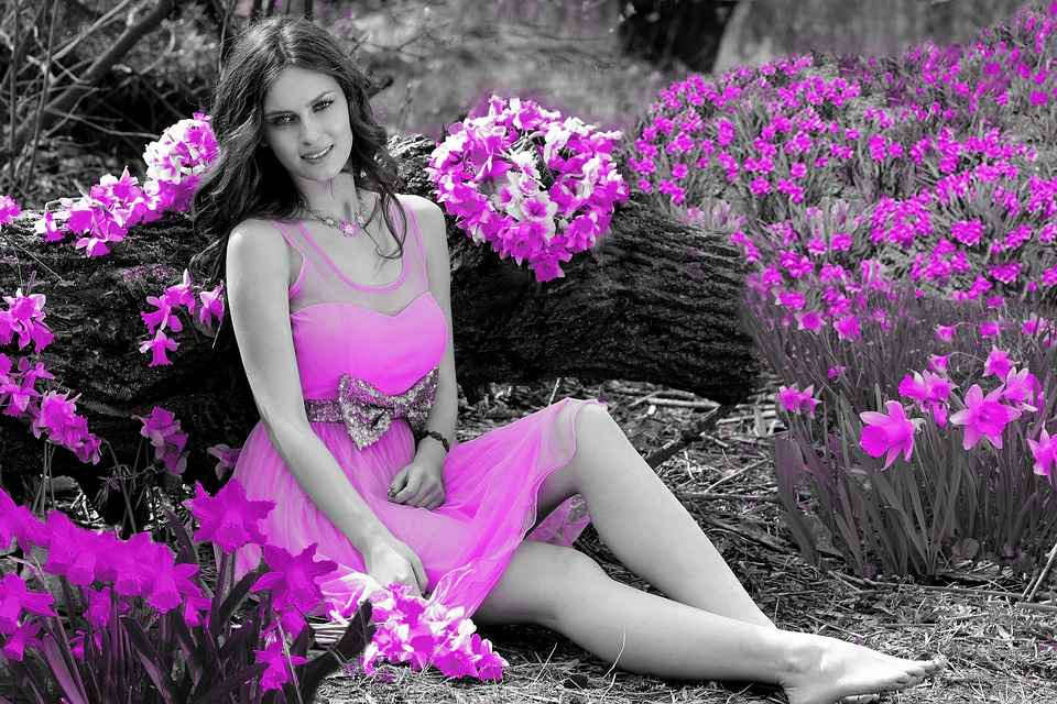Color, Splash, Effect, Woman, Girl, Lady, Laying