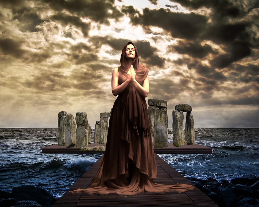 Mystical, Magical, Woman, Lady, Priestess, Stonehenge