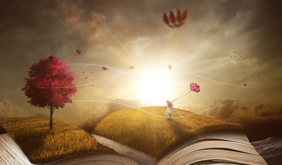 Book, Landscape, Nature, Wind, Weather, Autumn, Woman