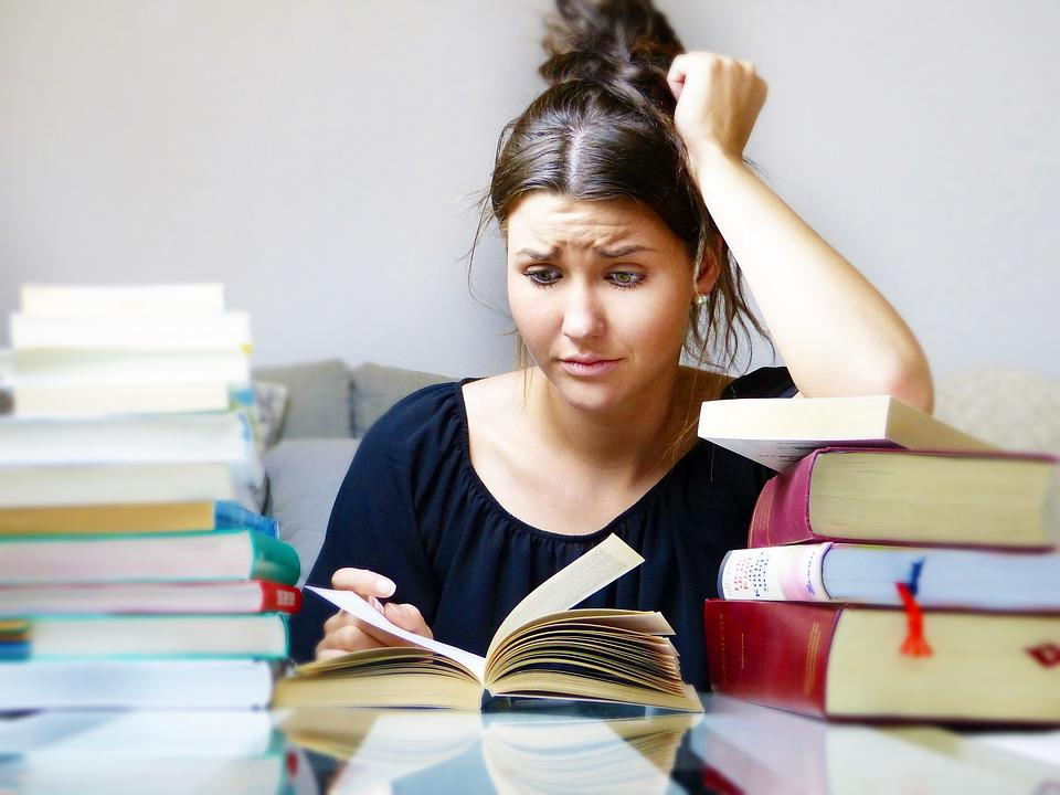 Books, Woman, Girl, Young People, Study, Learn, Stress