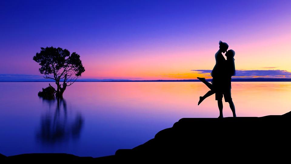 Tree, Couple, Silhouette, Woman, Love, Man, People