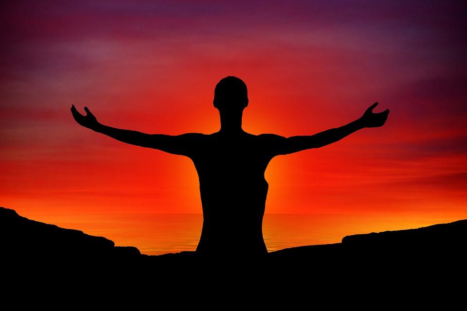 Free photo Woman Man Religion Welcome Sunset Pray Faith Joy - Max Pixel