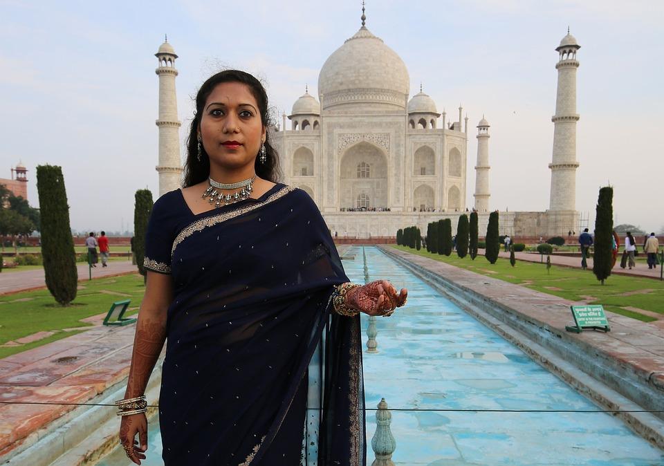 Woman, Taj Mahal, Religion, Agra, Mausuleo, Hindus