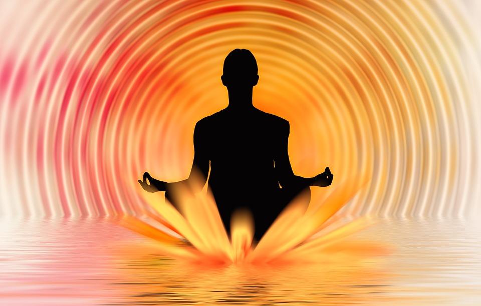 Meditation, Reflection, Woman, Person, Legged, Sunset