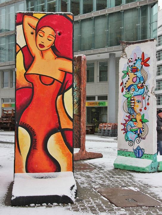 Road, Art, Painting, Abstract, Street Art, Mural, Woman