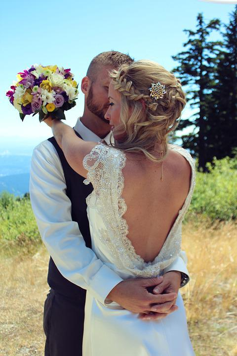 Nature, Summer, Love, Outdoors, Woman, Wedding, Couple