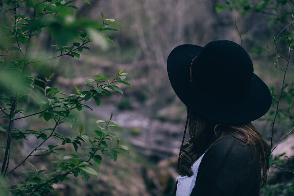 Hat, Nature, Person, Solo, Woman