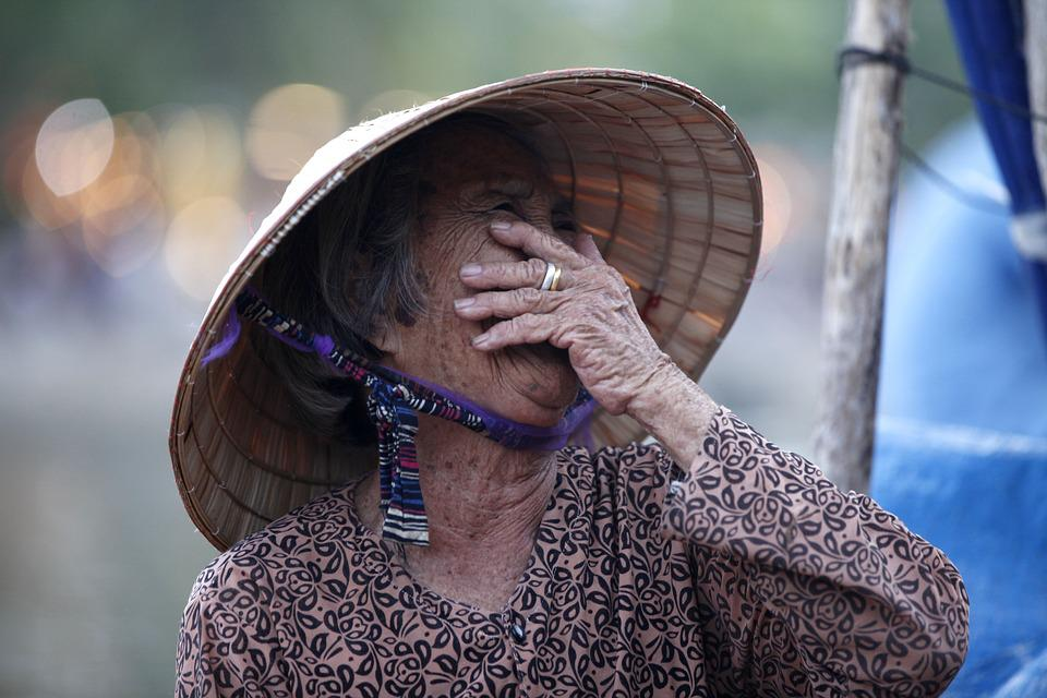 Vietnam, People, Person, Woman, Smile, Old, Lady