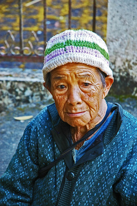 Woman, Old, Arm, Sad, Thailand