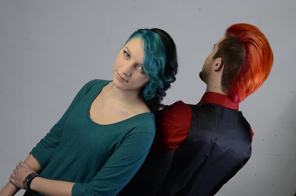 Woman, Man, Hair, Human, Man And Woman, People, Punk