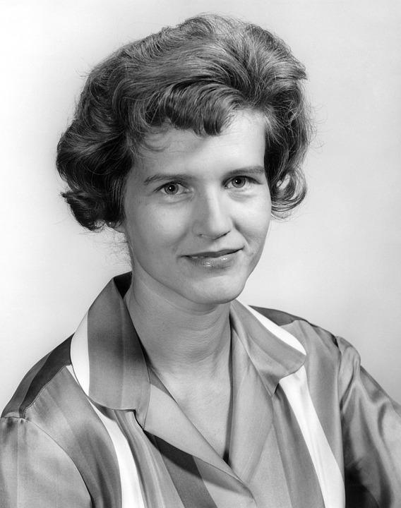 Portrait, Woman, Perm, Maria Von Braun, Face, Features