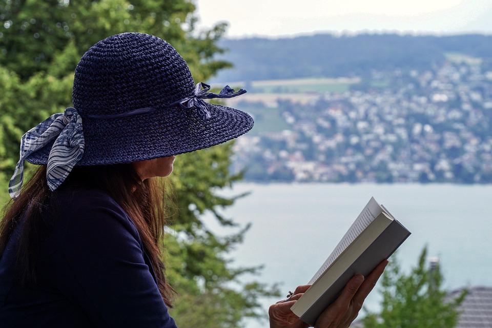 Woman, Read, Sit, Person, Literature, Book, Leisure