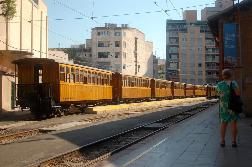 Train, Lonely, Wait, Person, Platform, Woman, City