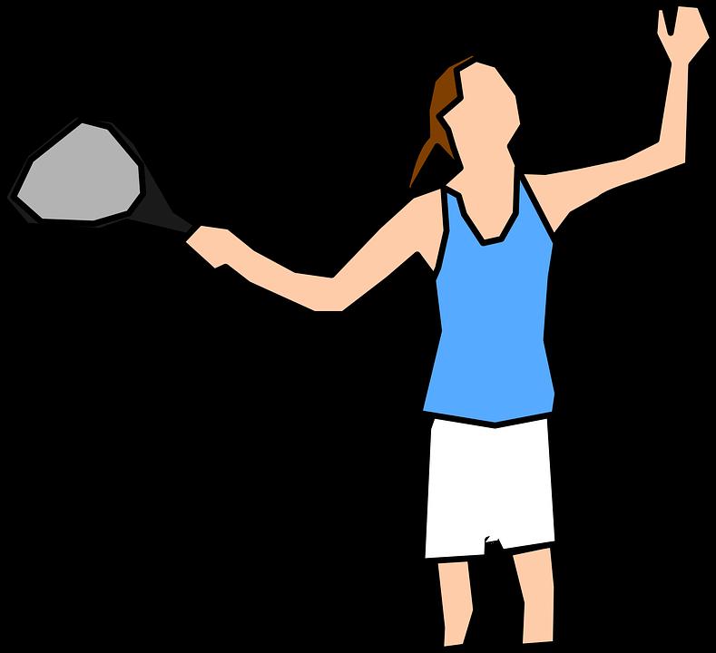 Tennis Player, Woman, Serve, Racket, Player, Female