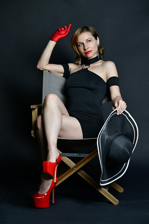 Model, Woman, Chair, Portrait, Hat, Female Model, Dress