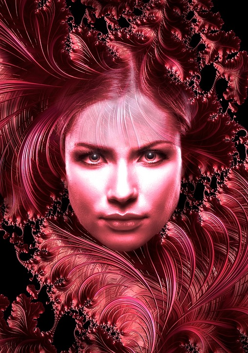 Portrait, Woman, Red, Face, Pretty, Beautiful