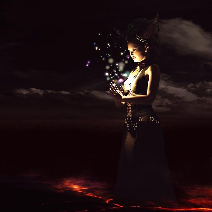 Free Photo Woman Priestess Crown Mystical Pray Fantasy Max