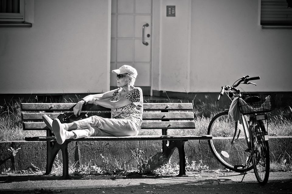 Human, Road, Woman, Person, Bank, Wheel, Bike, Break