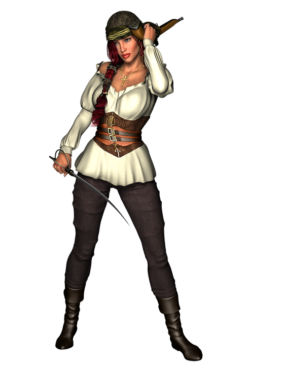 Pirate, Woman, Female, Masquerade, Captain, Sailor