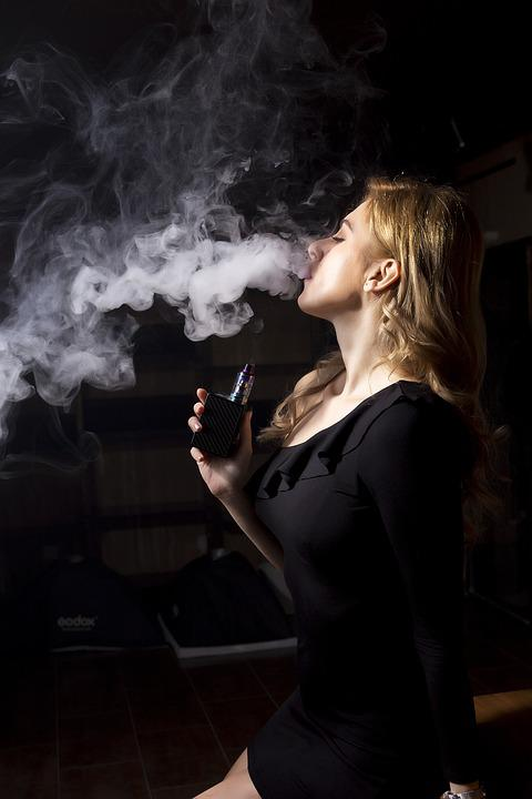 Woman, People, Smoke, A, Adult, Portrait