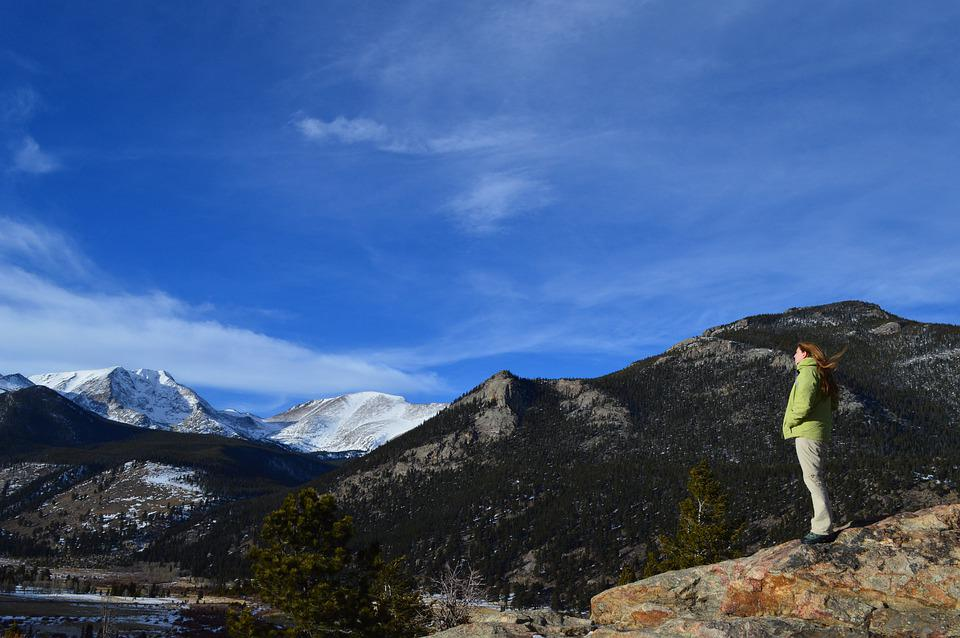Woman Staring Into The Distance, Green Coat, Colorado