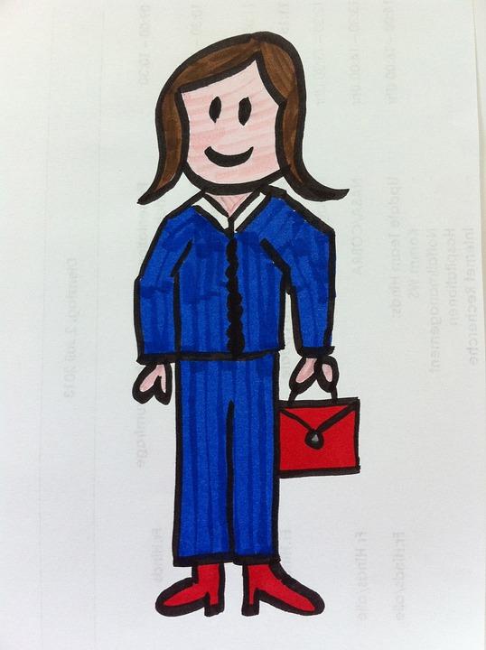 Woman, Kindergarten, Stick Figure