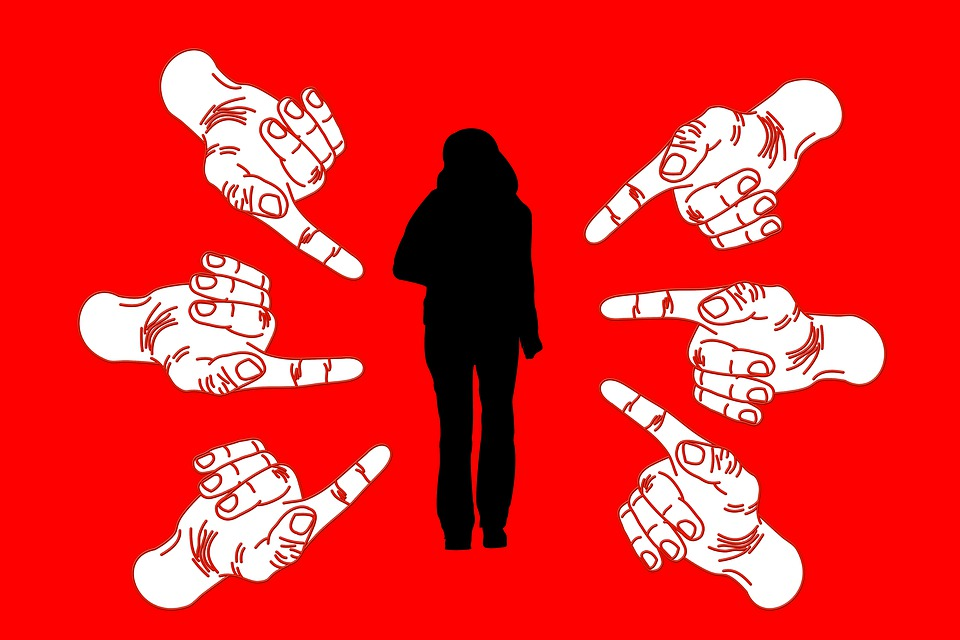 Woman, Bullying, Stress, Finger, Suggest, Shame, Arrows