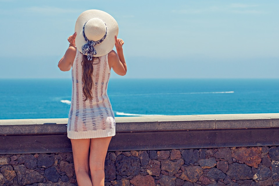 Summer, Holiday, Young Woman, Woman, Ocean, Sea