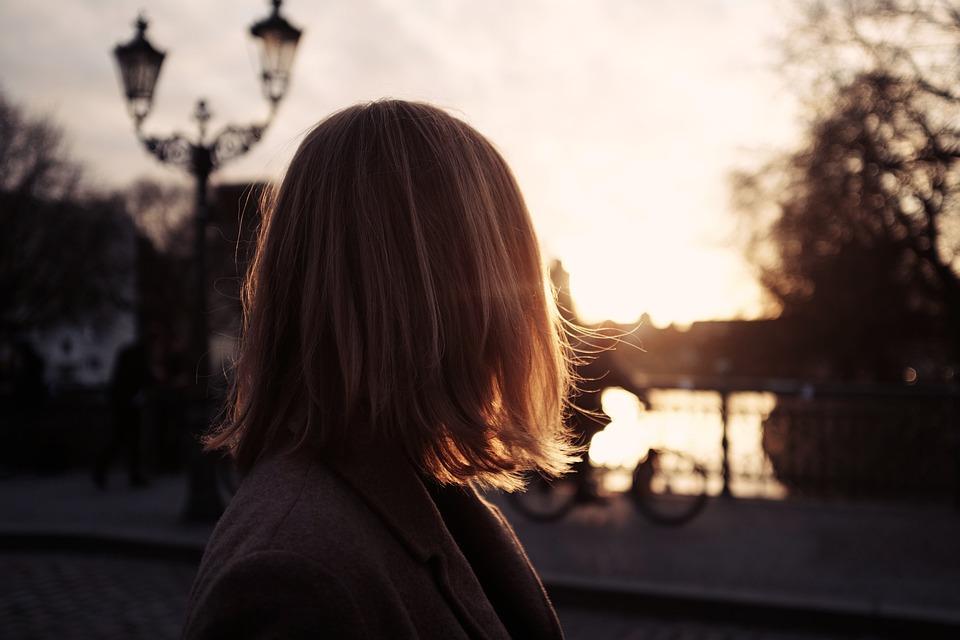 People, Girl, Woman, Walking, Alone, Sunset