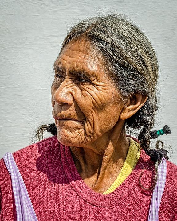 Woman, Elderly, Wrinkes, Female, Woman Thinking