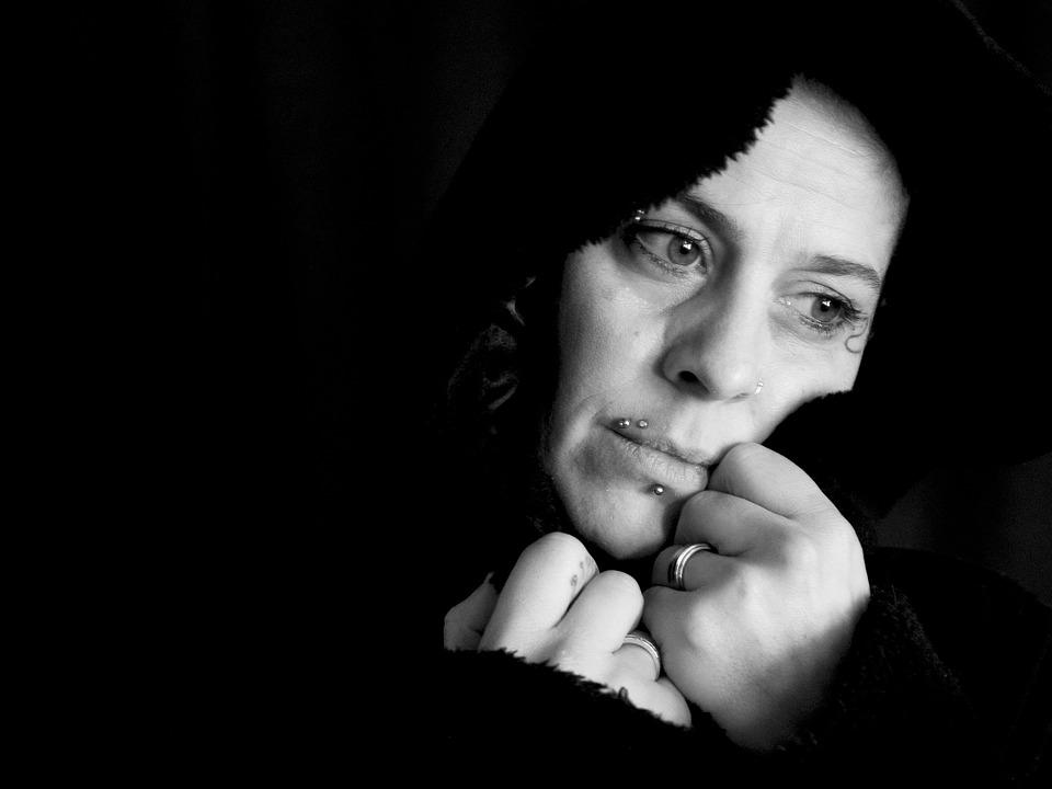 Woman, Sad, Face, Portrait, Human, Black, Thoughtful