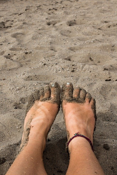 Sandy, Feet, Beach, Sand, Toes, Female, Woman, Sunny