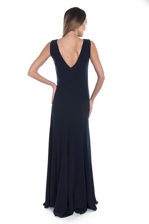 Black, Dress, Stylish, Fashion, Woman, Girl, Young