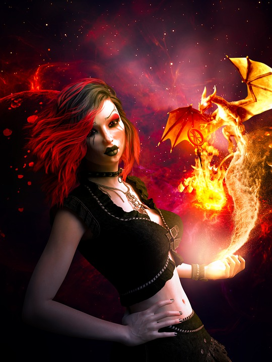 Fantasy, Character, Women, Magic, Monster, Dragon
