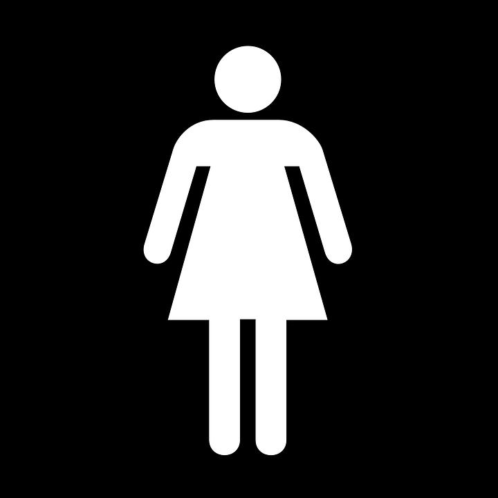 Woman, Women, Wc, Toilet, Black, Sign, Symbol, Icon