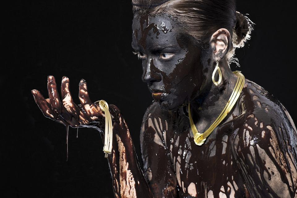 Black, Chocolate, Paint, Painting, Fiction, Women's