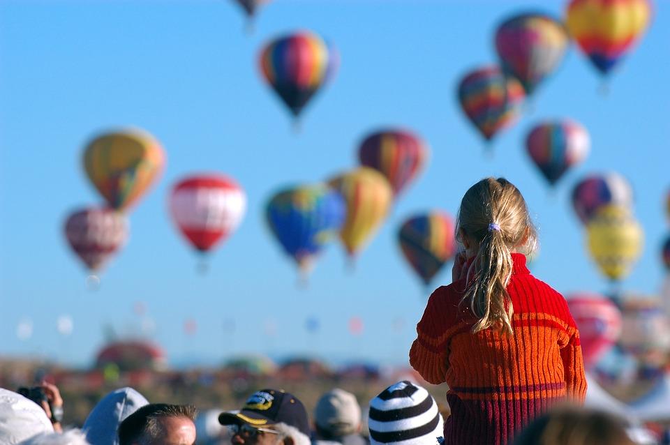 Children, Landscape, Women's, Hot Air Balloon