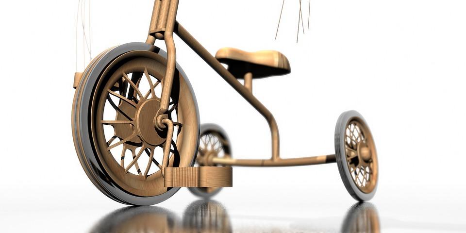 Bike, Active, Children, Wood