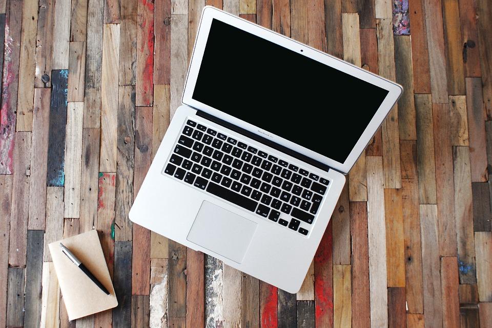Macbook, Apple, Air, Office, Work, Wood, Scripture, Pen