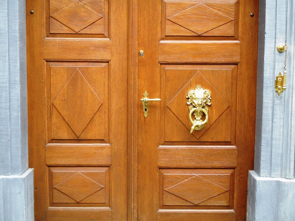 House Entrance, Wood, Pattern, Art