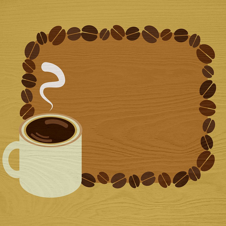 Wood Background, Coffee And Beans, Coffee, Roasted