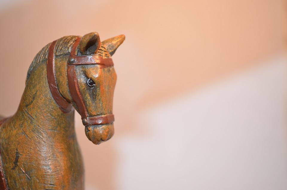Horse, Background, Wood, Decorations, Toys, Art, Animal