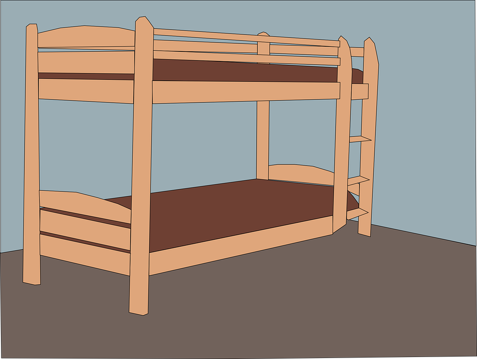Bed, Double, Furniture, Wood, Bedroom, Architecture