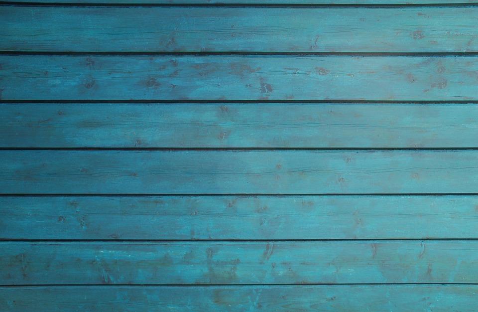 Wood, Wall, Barn, Color, Petrol, Blue, Texture