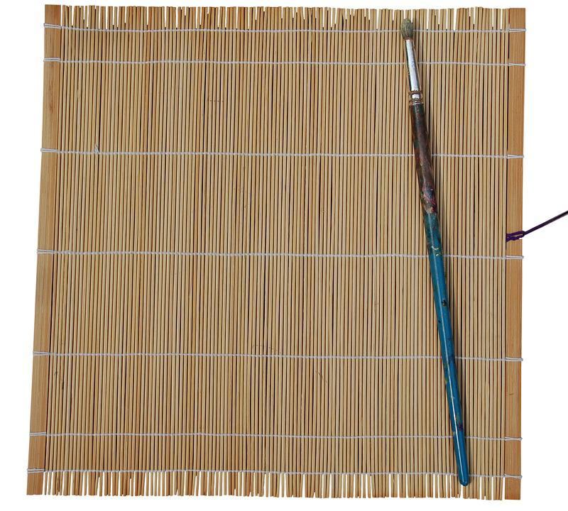 Bamboo, Wood, Brush, Dye, Ground, Background, Copyspace