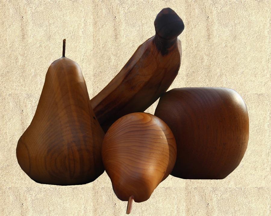 Fruit, Wood, Carved